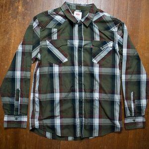 LEVI'S Plaid Button Up Shirt XL